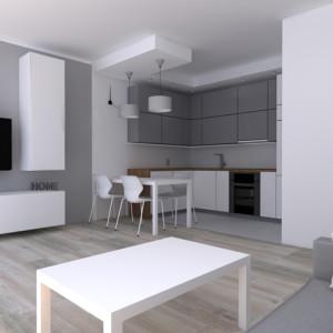 Salon z aneksem kuchennym- Szczecin